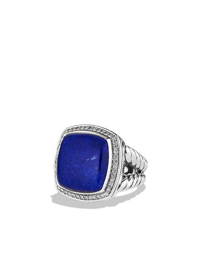 David Yurman Albion Ring with Lapis Lazuli and Diamonds