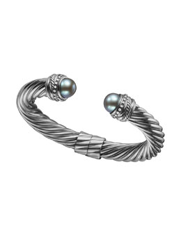 David Yurman Pearl Crossover Bracelet, 10mm