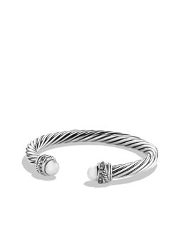 David Yurman Crossover Bracelet with Pearls and Diamonds
