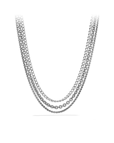 David Yurman Three-Row Chain Necklace