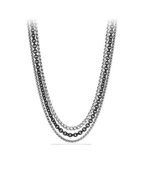 """Multi Row Chain Necklace, 18""""L"""