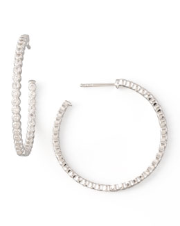JudeFrances Jewelry Sapphire Hoop Earrings
