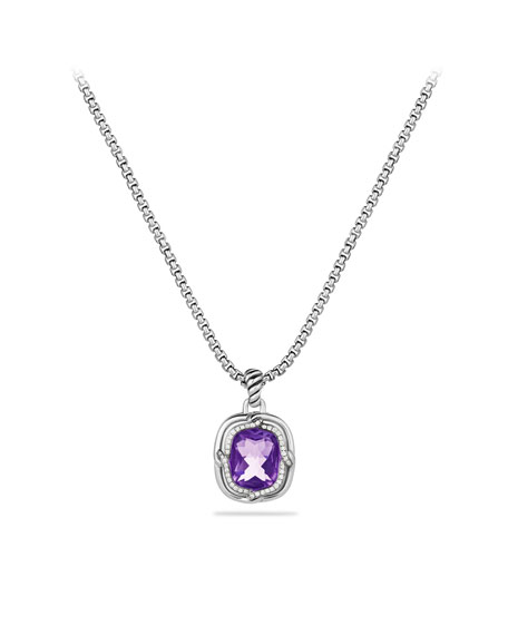 Labyrinth Small Pendant with Amethyst and Diamonds