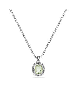 David Yurman Labyrinth Small Pendant with Prasiolite and Diamonds