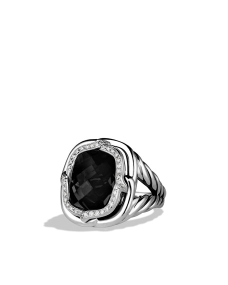 Labyrinth Ring with Black Onyx and Diamonds