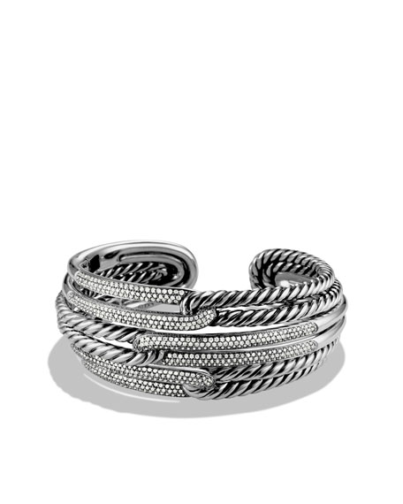 Labyrinth Triple-Loop Cuff with Diamonds