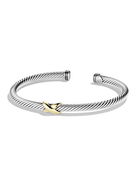 X Bracelet with Gold
