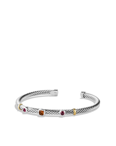 David Yurman Renaissance Bracelet with Citrine and Gold