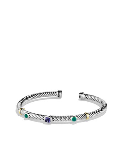 David Yurman Renaissance Bracelet with Iolite and Gold