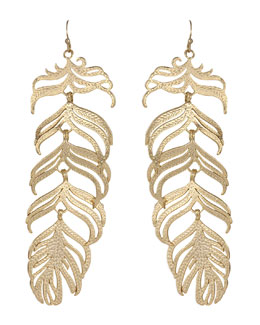Kendra Scott Large Feather Earrings