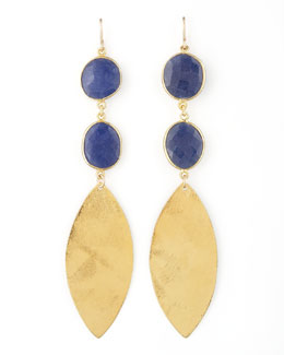 Devon Leigh Lapis Quartz Drop Earrings