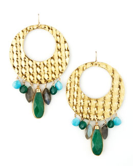 Devon Leigh Gold Circle Earrings
