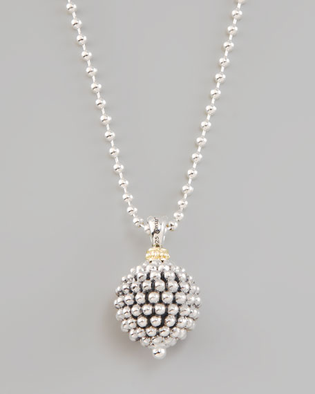 Caviar Ball Pendant Necklace