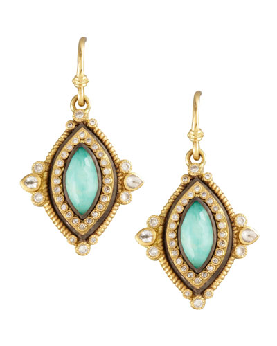 Armenta Green Turquoise Drop Earrings