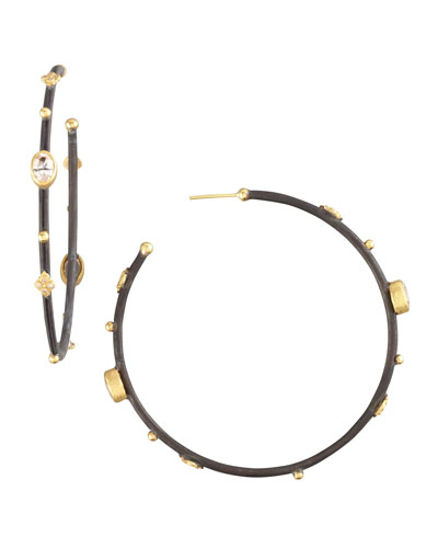 Armenta Multi-Station Hoop Earrings