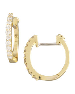 Roberto Coin Pave Diamond Horseshoe Earrings