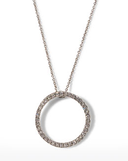 Roberto Coin Pave Circle Necklace