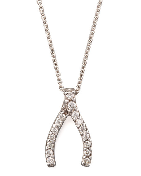 Pave Wishbone Necklace