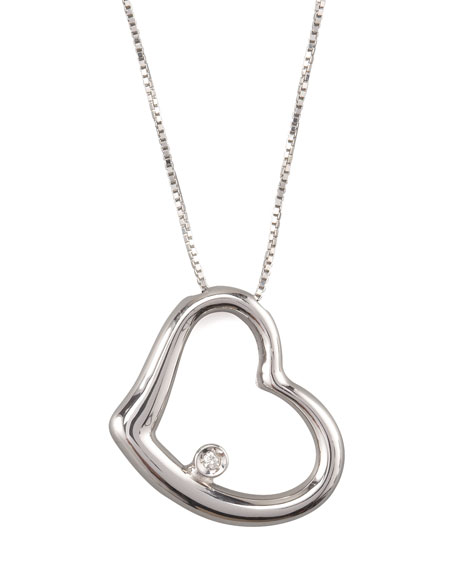 Roberto Coin Heart Pendant Necklace, White