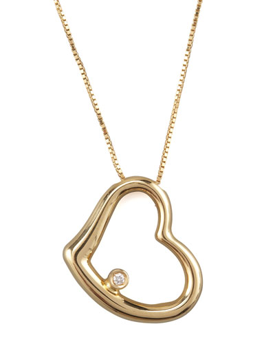 Roberto Coin Heart Pendant Necklace, Yellow