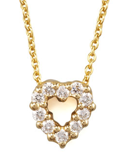 Roberto Coin Pave Heart Necklace, Small