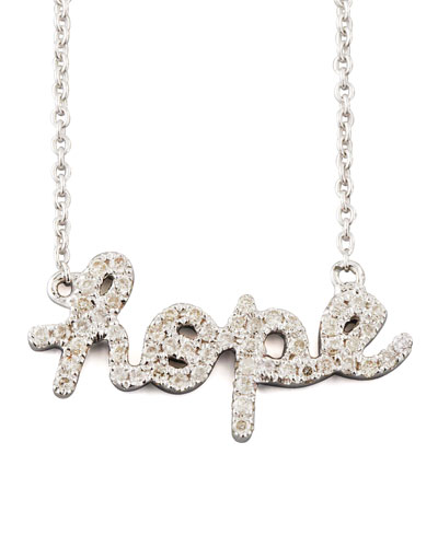 Sydney Evan Diamond Hope Necklace, White Gold