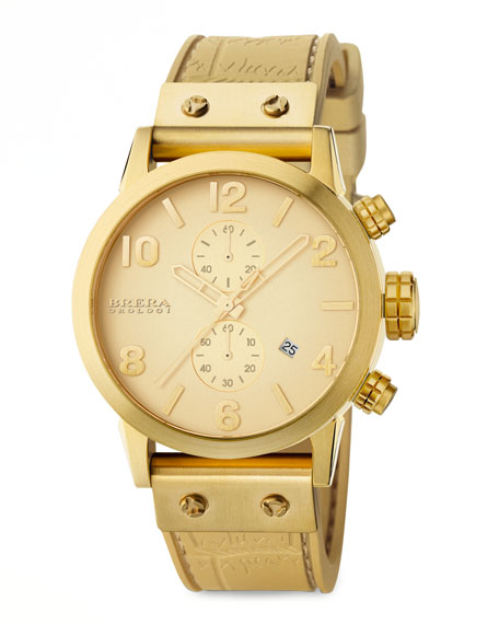 Isabella, Gold Tonal Watch, Silicone Strap