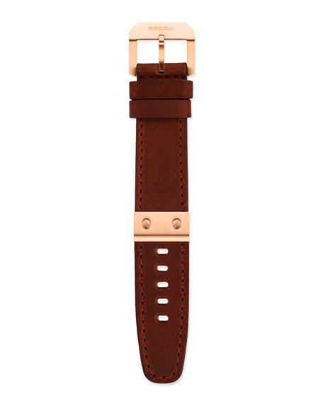 Leather Watch Strap, Rose Golden