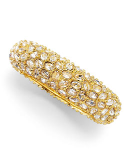 Kenneth Jay Lane Crystal-Encrusted Bracelet