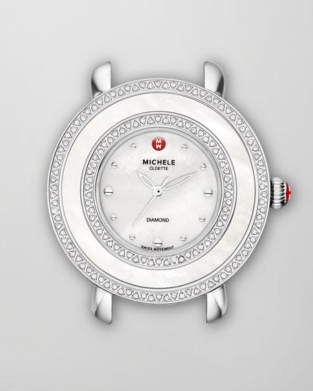 Cloette Diamond Watch Head, Stainless Steel