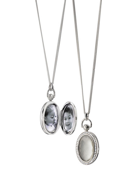 Monica Rich Kosann Mother-of-Pearl Locket Necklace