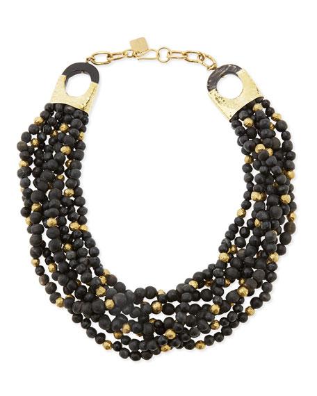 Mpira Dogo Multi-Strand Necklace, Dark Horn