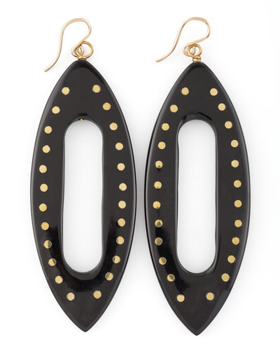 Ashley Pittman Kuacha Earrings, Dark Horn
