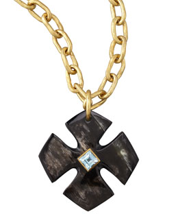 Ashley Pittman Kimalta Pendant, Dark Horn