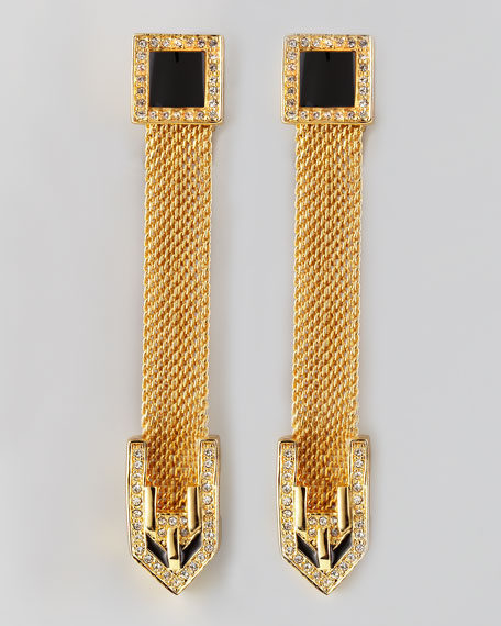 Long Snake Chain Drop Earrings