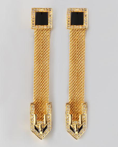 Long Snake Chain Drop Earrings