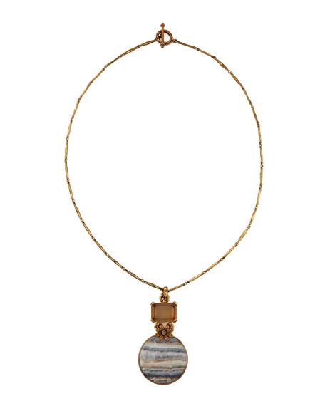 Jasper Pendant Necklace