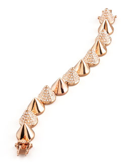 Eddie Borgo Alternating Pave Cone Bracelet, Rose Golden
