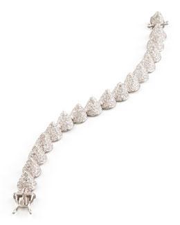 Eddie Borgo Small Pave Cone Bracelet, Silver