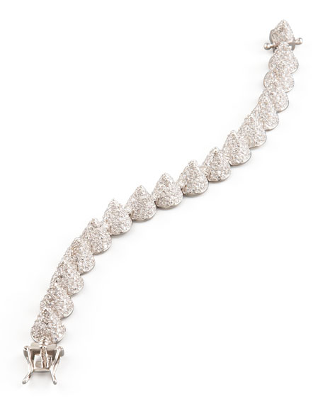 Small Pave Cone Bracelet, Silver
