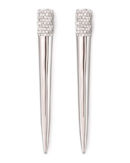 Eddie Borgo Pave Crystal Spike Earrings, Silver