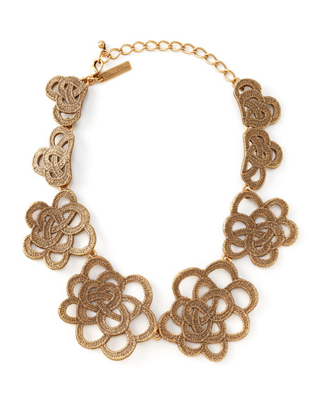 Looped Lace Cluster Collar Necklace