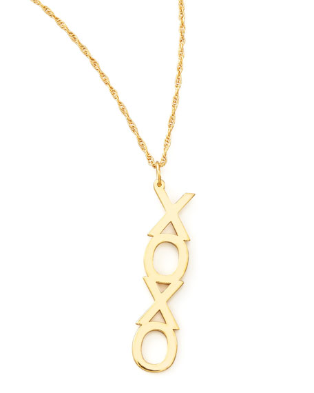 Vertical XO Necklace