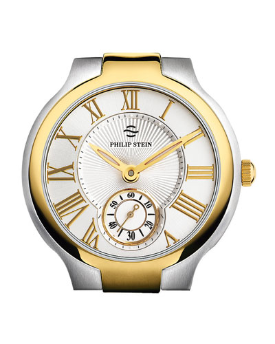 Philip Stein Large Round Watch Head, Two-Tone