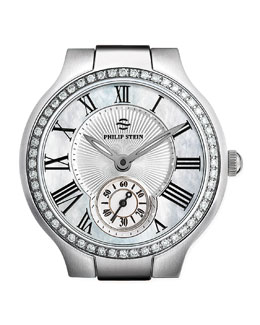 Philip Stein Small Round Mother-of-Pearl Diamond Watch Head