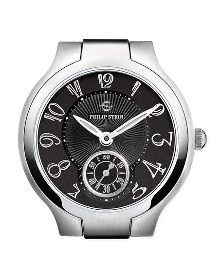 Small Black Round Watch Head, Steel