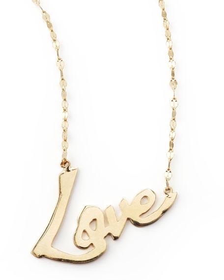 18k Gold Love Pendant Necklace