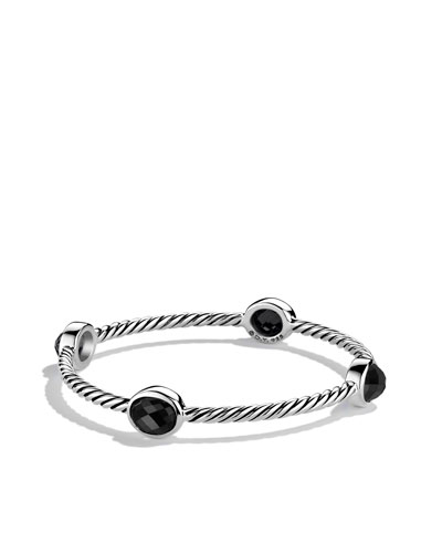 David Yurman Color Classics Four-Station Bangle with Black Onyx