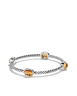 David Yurman Color Classics Four-Station Bangle with Citrine
