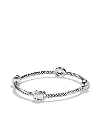 David Yurman Color Classics Four-Station Bangle with Crystal